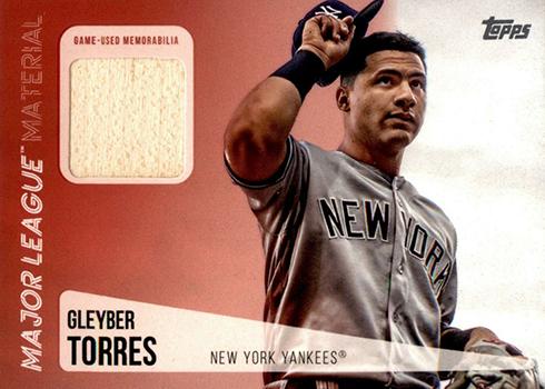 2019 Topps Series 1 Baseball Major League Material Gleyber Torres
