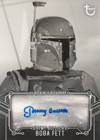 2019 Topps Star Wars Empire Strikes Back Black and White Autographs Jeremy Bulloch