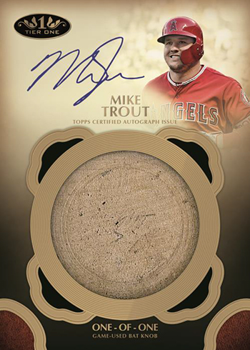 2019 Topps Tier One Baseball Bat Knob Autograph