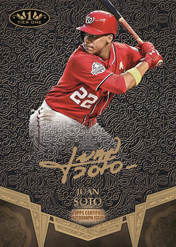 2019 Topps Tier One Baseball Break Out Autographs Bronze Ink