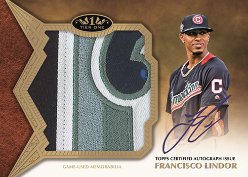 2019 Topps Tier One Baseball Tier One All-Star Patch Autograph