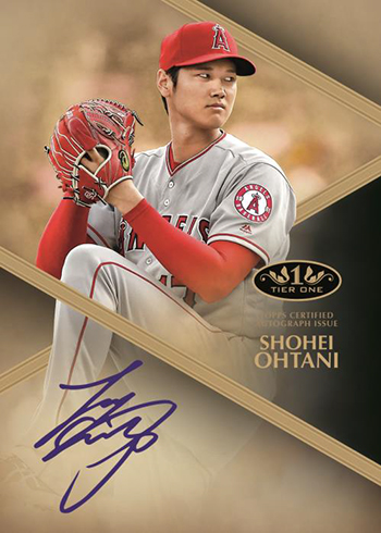 2019 Topps Tier One Baseball Tier One Autograph