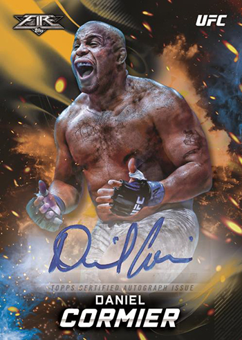 2019 Topps UFC Knockout Fire Autograph