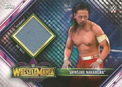 2019 Topps WWE Road to Wrestlemania Mat Relics Shinsuke Nakamura