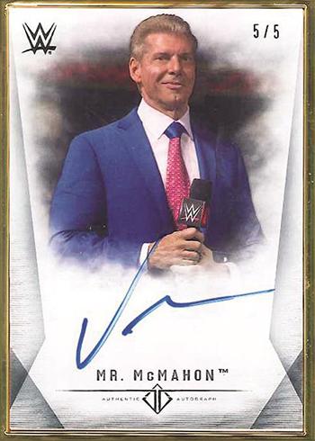 2019 Topps WWE Transcendent Autographs Vince McMahon