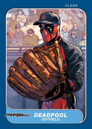 2019 Upper Deck Deadpool Sport Ball 1986 Fleer
