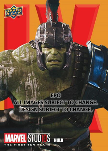 2019 Upper Deck Marvel Studios: The First Ten Years Roman Numerals Hulk