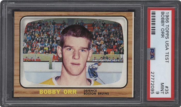 1966-67 Topps Test Issue Bobby Orr PSA 9 Lelands Feb-2019 700