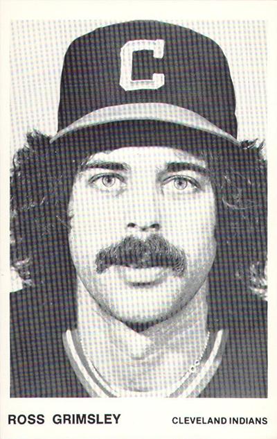 1980 Indians Team Issue Checklist Baseball Card Details