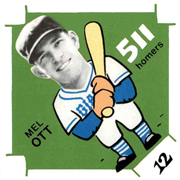 1980 Laughlin 300 400 500 Baseball Mel Ott