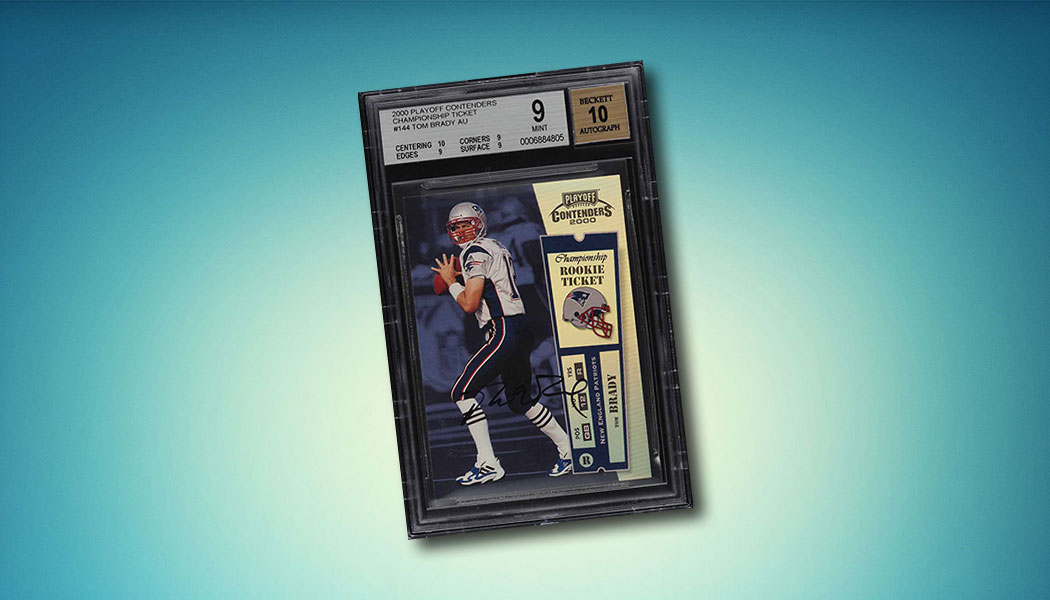 2000 Contenders Championship Ticket Tom Brady Autograph Tops