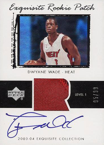 2003-04 Upper Deck Exquisite Collection Dwyane Wade Rookie Card