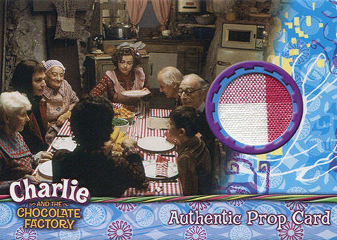 2005 Artbox Charlie and the Chocolate Factory Prop Cards Table Cloth