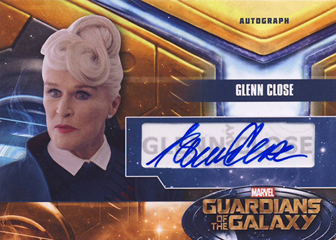 2014 Upper Deck Guardians of the Galaxy Glenn Close Autograph