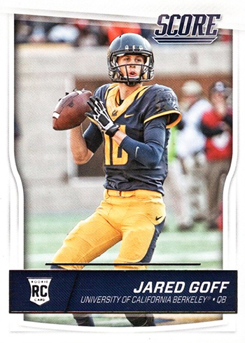 2016 Score Jared Goff Rookie Card