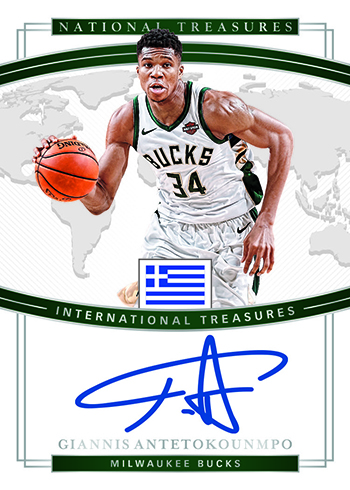 2018-19 Panini National Treasures Basketball International Treasures