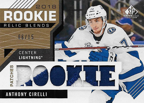 2018 Rookie Relic Blends Patch Checklist. 23 cards. 407652b27