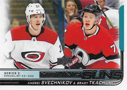 2018-19 Upper Deck Series 2 Hockey Young Guns Checklist
