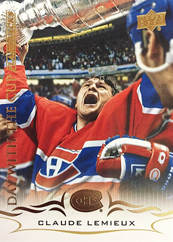 2018-19 Upper Deck Series 2 Hockey Day with the Cup Flashbacks DCF-3 Claude Lemieux