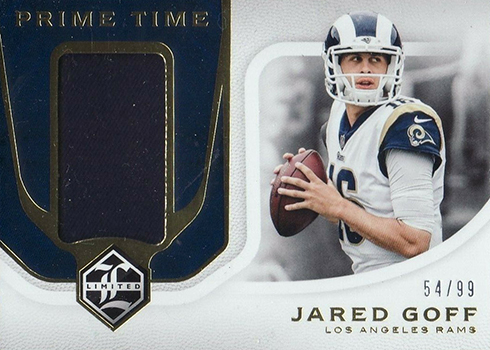 2018 Limited Football Prime Time Swatches Jared Goff