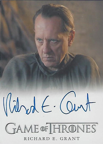 2018 Rittenhouse Game of Thrones Season 7 Richard E Grant Autograph