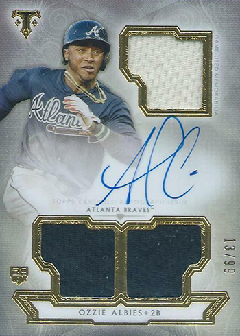 Verzamelkaarten, ruilkaarten Verzamelkaarten: sport 2018 Topps Museum Collection #87 Ozzie Albies Atlanta Braves RC Baseball Card