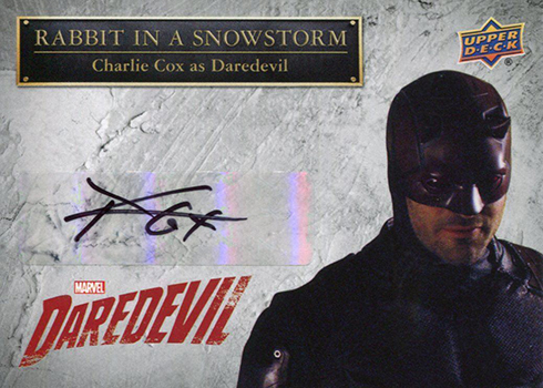 2018 Upper Deck Daredevil Charlie Cox Autograph