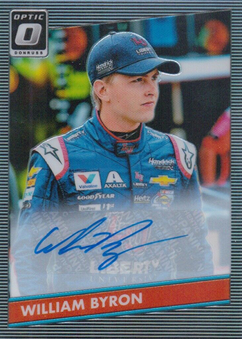 2019 Donruss Racing Optic 1986 Retro SIgnatures William Byron