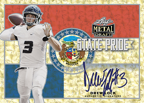 2019 Leaf Metal Draft Football State Pride Superprismatic