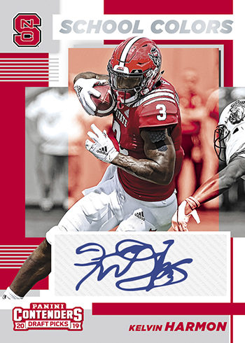 2019 Panini Contenders Draft Picks Football School Colors Signatures