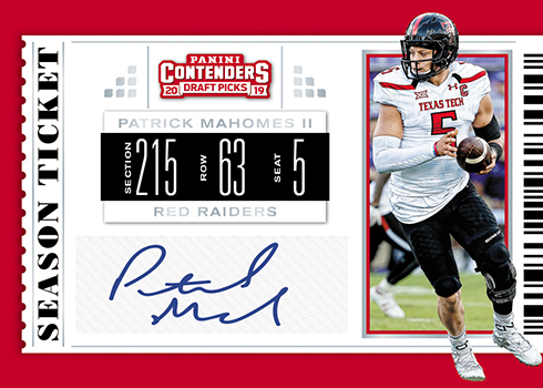 2019 Panini Contenders Draft Picks Football Season Ticket Signatures