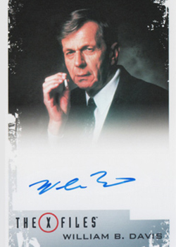 2019 Rittenhouse X-Files Archives Classic Autographs Williams B Davis