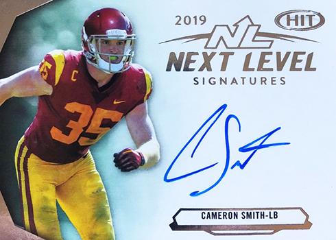 2019 SAGE Hit Premier Draft Football Next Level Autograph