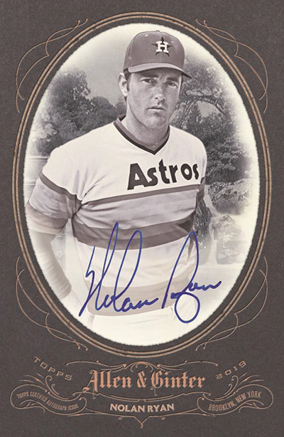 2019 Topps Allen and Ginter Baseball Boxloader Autograph
