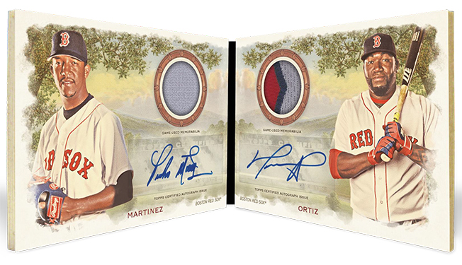 2019 Topps Allen and Ginter Baseball Dual Autograph Relic Book Card