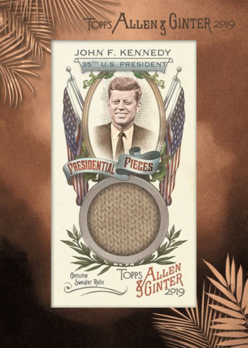 2019 Topps Allen and Ginter Baseball Presidential Pieces Mini Relics