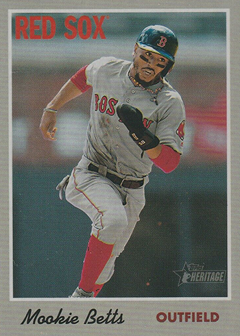2019 Topps Heritage Action Variations 78 Mookie Betts