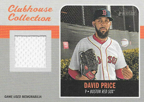 2019 Topps Heritage Baseball Clubhouse Collection Relics David Price