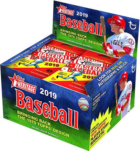 2019 Topps Heritage Baseball Retail Box
