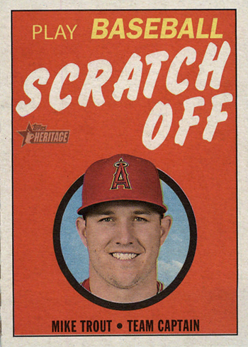 2019 Topps Heritage Baseball Scratch Off Mike Trout