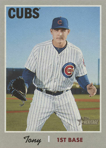 2019 Topps Heritage Nickname Variations 406 Anthony Rizzo