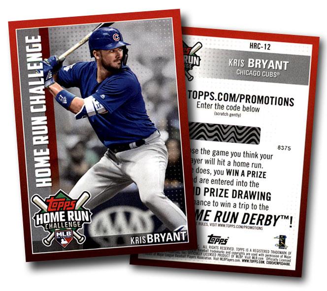 2019 Topps Home Run Challenge Kris Bryant
