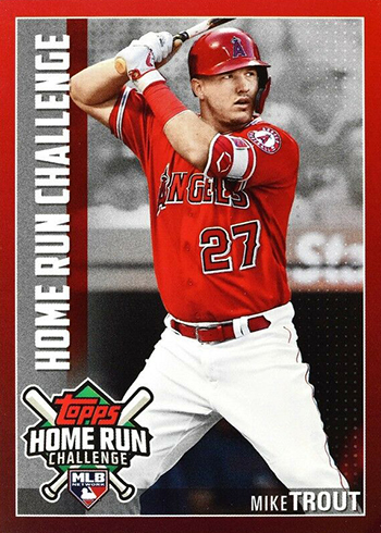 2019 Topps Home Run Challenge Mike Trout