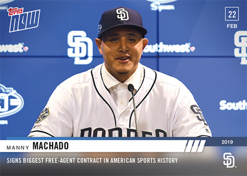 2019 Topps Now Spring Training Baseball ST-1 Manny Machado