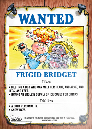 2019 Topps On-Demand Garbage Pail Kids Valentines Day Is Gross Back Gag