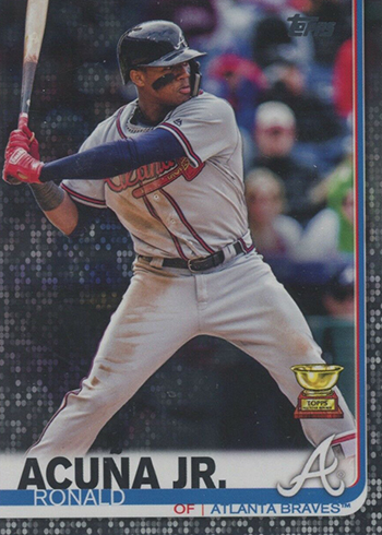 2019 Topps Series 1 Baseball Black Ronald Acuna Jr