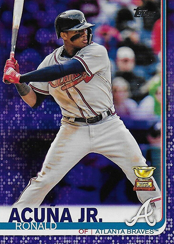2019 Topps Series 1 Baseball Purple Ronald Acuna Jr