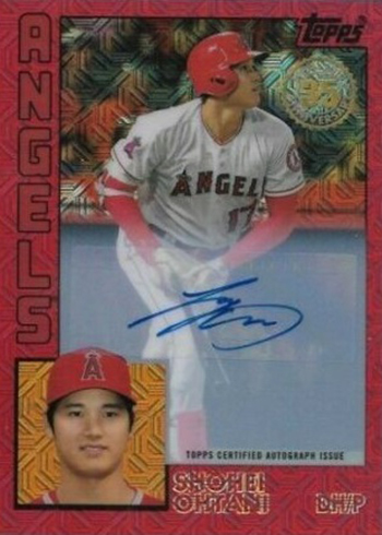 2019 Topps Silver Packs Chrome Red Refractor Autographs Shohei Ohtani
