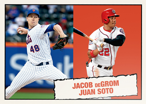 2019 Topps Throwback Thursday 31 Jacob deGrom Juan Soto
