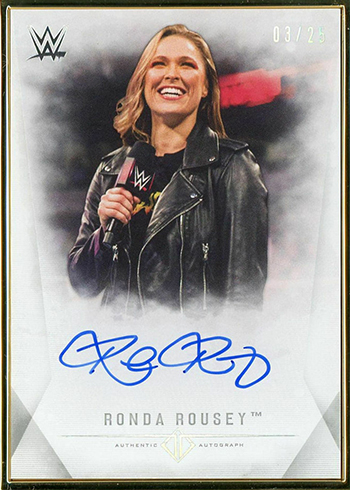 2019 Topps WWE Transcendent Ronda Rousey Autograph